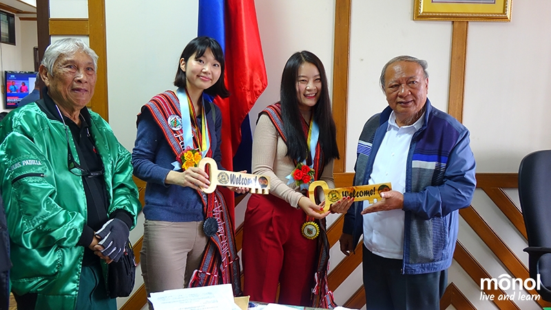 Meet and greet. Awarding of the symbolic key to the province of Benguet with Governor Nestor Fongwan.